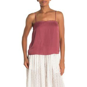 Free People Beyond Me Cami in Deep Red NEW